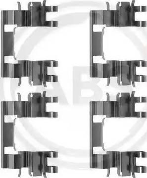 A.B.S. 1087Q - Piederumu komplekts, Disku bremžu uzlikas interparts.lv
