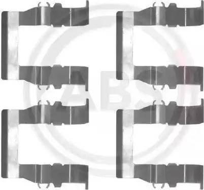 A.B.S. 1194Q - Piederumu komplekts, Disku bremžu uzlikas interparts.lv