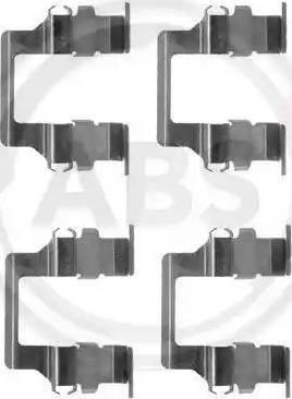 A.B.S. 1164Q - Piederumu komplekts, Disku bremžu uzlikas interparts.lv