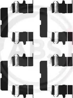 A.B.S. 1161Q - Piederumu komplekts, Disku bremžu uzlikas interparts.lv