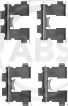 A.B.S. 1163Q - Piederumu komplekts, Disku bremžu uzlikas interparts.lv