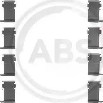 A.B.S. 1162Q - Piederumu komplekts, Disku bremžu uzlikas interparts.lv