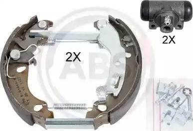 A.B.S. 111454 - Bremžu komplekts, trumuļa bremzes interparts.lv