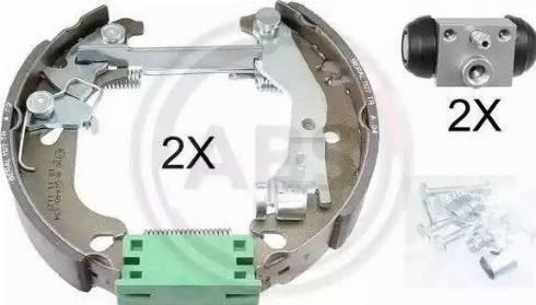 A.B.S. 111452 - Bremžu komplekts, trumuļa bremzes interparts.lv