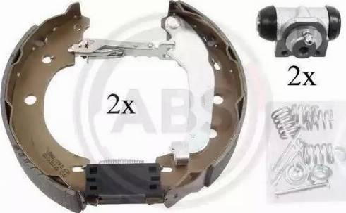 A.B.S. 111414 - Bremžu komplekts, trumuļa bremzes interparts.lv