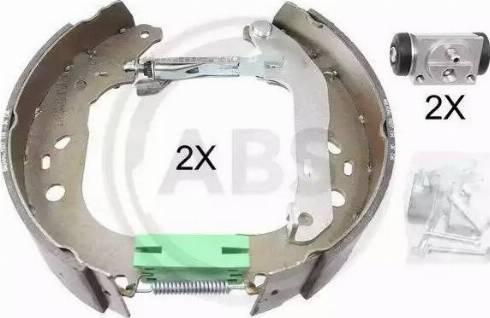 A.B.S. 111438 - Bremžu komplekts, trumuļa bremzes interparts.lv