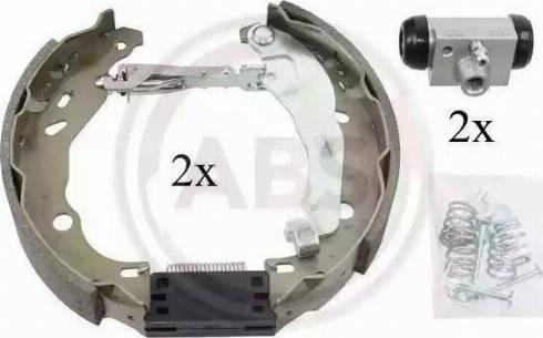 A.B.S. 111421 - Bremžu komplekts, trumuļa bremzes interparts.lv