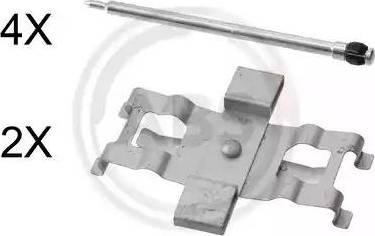 A.B.S. 1805Q - Piederumu komplekts, Disku bremžu uzlikas interparts.lv