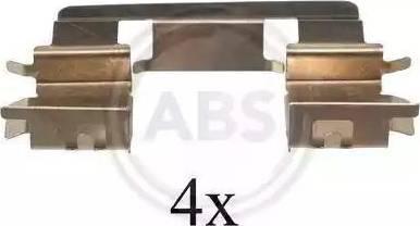 A.B.S. 1294Q - Piederumu komplekts, Disku bremžu uzlikas interparts.lv