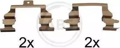 A.B.S. 1291Q - Piederumu komplekts, Disku bremžu uzlikas interparts.lv