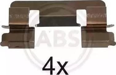 A.B.S. 1293Q - Piederumu komplekts, Disku bremžu uzlikas interparts.lv