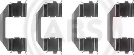 A.B.S. 1258Q - Piederumu komplekts, Disku bremžu uzlikas interparts.lv