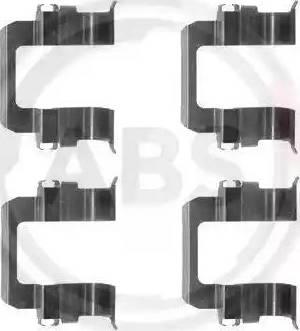 A.B.S. 1252Q - Piederumu komplekts, Disku bremžu uzlikas interparts.lv