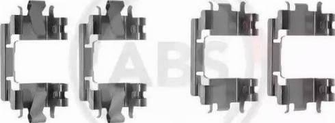 A.B.S. 1257Q - Piederumu komplekts, Disku bremžu uzlikas interparts.lv