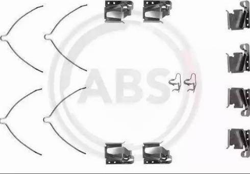 A.B.S. 1268Q - Piederumu komplekts, Disku bremžu uzlikas interparts.lv