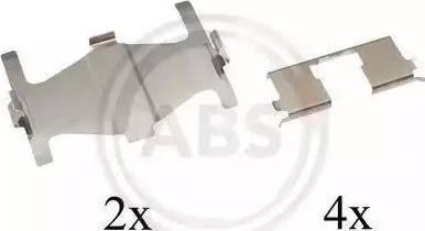 A.B.S. 1204Q - Piederumu komplekts, Disku bremžu uzlikas interparts.lv