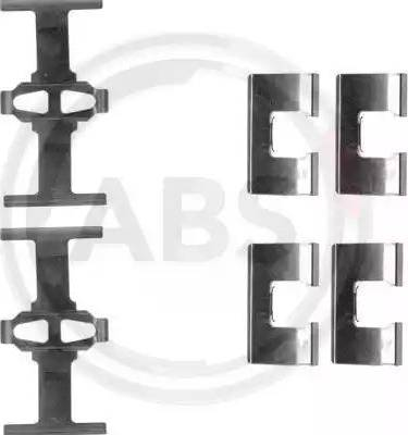 A.B.S. 1203Q - Piederumu komplekts, Disku bremžu uzlikas interparts.lv