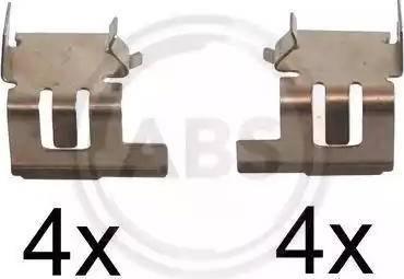 A.B.S. 1286Q - Piederumu komplekts, Disku bremžu uzlikas interparts.lv