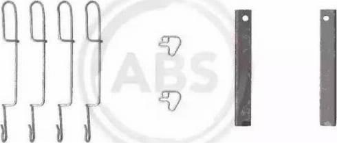 A.B.S. 1280Q - Piederumu komplekts, Disku bremžu uzlikas interparts.lv