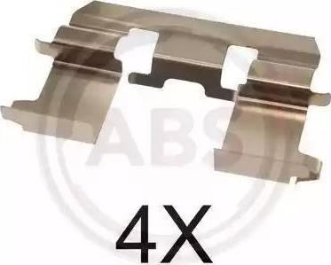 A.B.S. 1281Q - Piederumu komplekts, Disku bremžu uzlikas interparts.lv