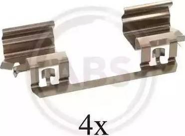 A.B.S. 1234Q - Piederumu komplekts, Disku bremžu uzlikas interparts.lv
