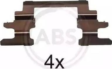 A.B.S. 1236Q - Piederumu komplekts, Disku bremžu uzlikas interparts.lv