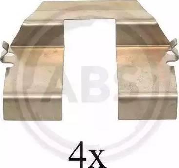 A.B.S. 1232Q - Piederumu komplekts, Disku bremžu uzlikas interparts.lv