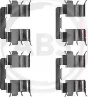 A.B.S. 1272Q - Piederumu komplekts, Disku bremžu uzlikas interparts.lv