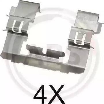 A.B.S. 1742Q - Piederumu komplekts, Disku bremžu uzlikas interparts.lv