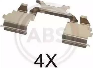 A.B.S. 1768Q - Piederumu komplekts, Disku bremžu uzlikas interparts.lv