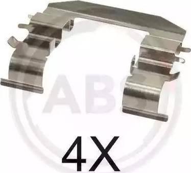 A.B.S. 1708Q - Piederumu komplekts, Disku bremžu uzlikas interparts.lv