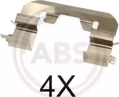 A.B.S. 1719Q - Piederumu komplekts, Disku bremžu uzlikas interparts.lv