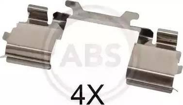 A.B.S. 1730Q - Piederumu komplekts, Disku bremžu uzlikas interparts.lv