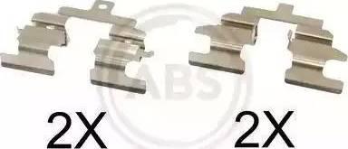 A.B.S. 1737Q - Piederumu komplekts, Disku bremžu uzlikas interparts.lv