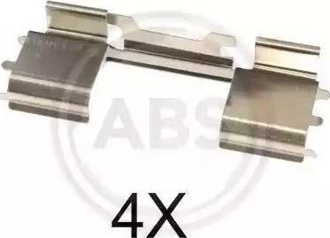 A.B.S. 1729Q - Piederumu komplekts, Disku bremžu uzlikas interparts.lv
