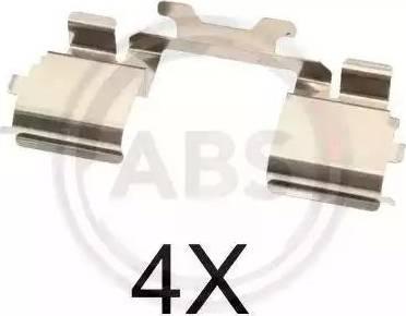 A.B.S. 1725Q - Piederumu komplekts, Disku bremžu uzlikas interparts.lv