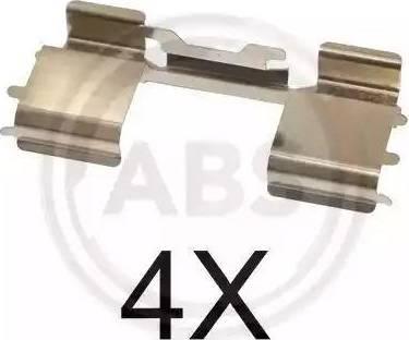 A.B.S. 1726Q - Piederumu komplekts, Disku bremžu uzlikas interparts.lv