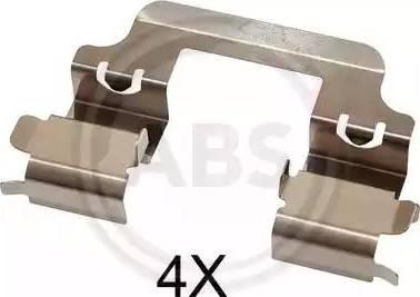 A.B.S. 1728Q - Piederumu komplekts, Disku bremžu uzlikas interparts.lv