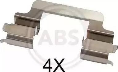 A.B.S. 1727Q - Piederumu komplekts, Disku bremžu uzlikas interparts.lv