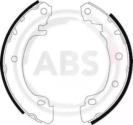 A.B.S. 8988 - Bremžu komplekts, trumuļa bremzes interparts.lv