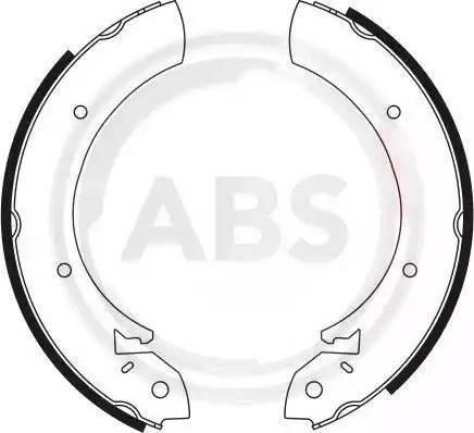A.B.S. 8125 - Bremžu komplekts, trumuļa bremzes interparts.lv