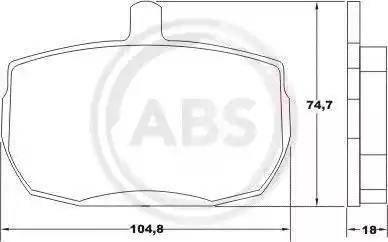 A.B.S. 36124 - Bremžu uzliku kompl., Disku bremzes interparts.lv