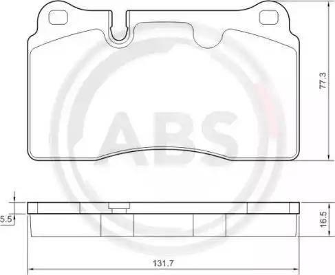 A.B.S. 37614 - Bremžu uzliku kompl., Disku bremzes interparts.lv