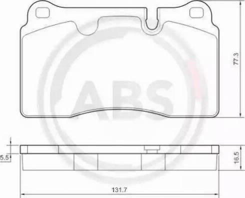 A.B.S. 37712 - Bremžu uzliku kompl., Disku bremzes interparts.lv