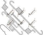 APEC braking KIT793 - Piederumu komplekts, Bremžu loki interparts.lv