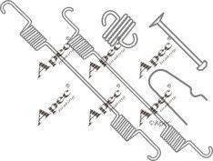 APEC braking KIT717 - Piederumu komplekts, Bremžu loki interparts.lv