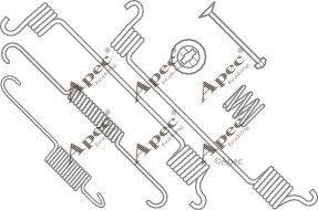 APEC braking KIT787 - Piederumu komplekts, Bremžu loki interparts.lv