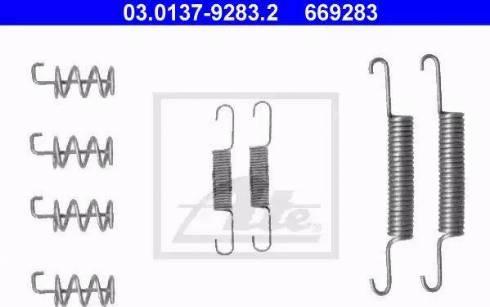 ATE 03.0137-9283.2 - Piederumu komplekts, Stāvbremzes mehānisma bremžu loks interparts.lv