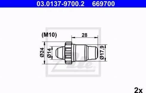 ATE 03.0137-9700.2 - Piederumu komplekts, Stāvbremzes mehānisma bremžu loks interparts.lv