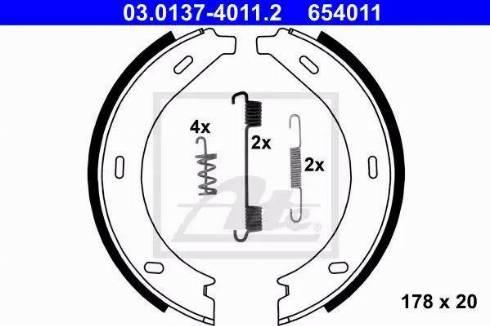 ATE 03.0137-4011.2 - Bremžu loku kompl., Stāvbremze interparts.lv